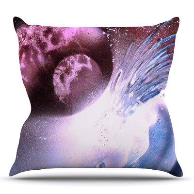 Space Tube by Infinite Spray Art Throw Pillow