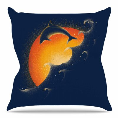 Welcomes Sunrise by BarmalisiRTB Throw Pillow Size: 18 H x 18 W x 4 D