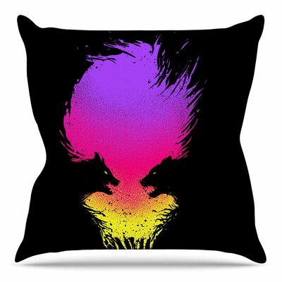 Wild Faces by BarmalisiRTB Throw Pillow Size: 20 H x 20 W x 4 D