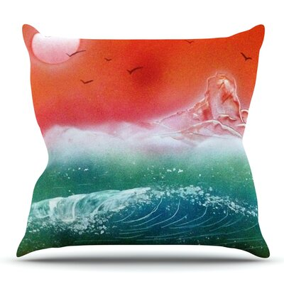 Dream Seascape by Infinite Spray Art Throw Pillow Size: 18 H x 18 W x 4 D