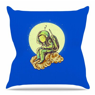 Why in the Cloud by BarmalisiRTB Throw Pillow Size: 26 H x 26 W x 4 D