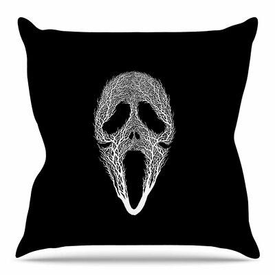 The Scream Tree by BarmalisiRTB Throw Pillow Size: 18 H x 18 W x 4 D