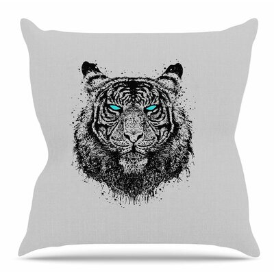 Tiger Gaze by BarmalisiRTB Throw Pillow Size: 20 H x 20 W x 4 D