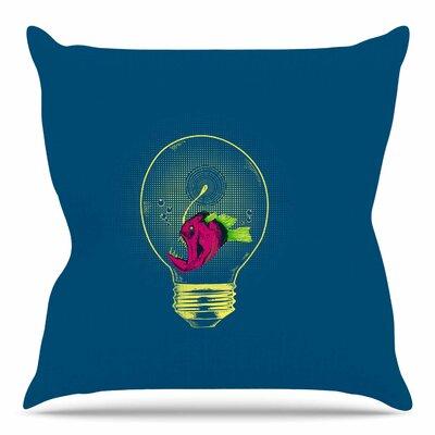 Anglerfish Bulb by BarmalisiRTB Throw Pillow Size: 16 H x 16 W x 4 D