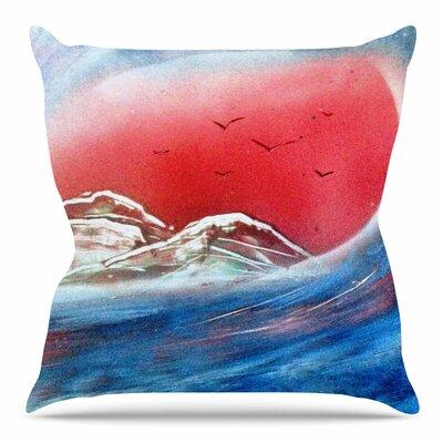 Tubular by Infinite Spray Art Throw Pillow Size: 16