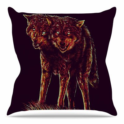 2head by BarmalisiRTB Throw Pillow Size: 20 H x 20 W x 4 D