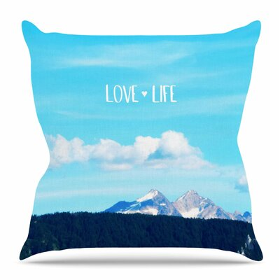 Love Life by Robin Dickenson Throw Pillow Size: 26 H x 26 W x 4 D