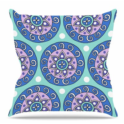 Mandala Dot by Sarah Oelerich Throw Pillow Size: 20 H x 20 W x 4 D