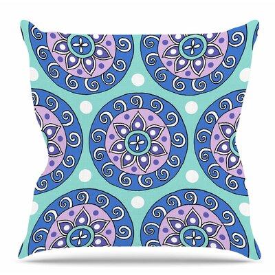 Mandala Dot by Sarah Oelerich Throw Pillow Size: 20 H x 20 W x 4 D