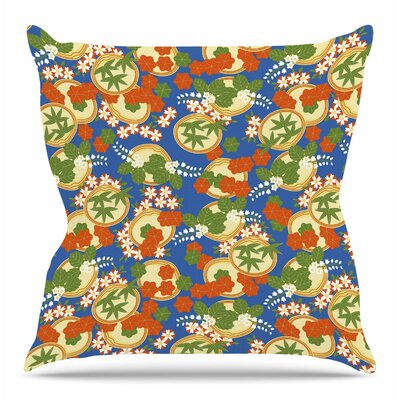 Clam and Paulownia by Setsu Egawa Throw Pillow Size: 26 H x 26 W x 4 D