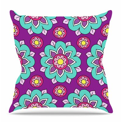 Bright Blossoms by Sarah Oelerich Throw Pillow Size: 18 H x 18 W x 4 D