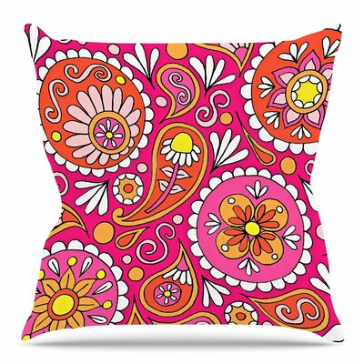 Paisley Pop by Sarah Oelerich Throw Pillow Size: 16 H x 16 W x 4 D