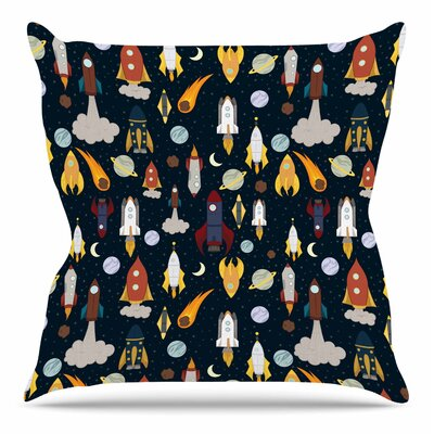 Rockets by Stephanie Vaeth Throw Pillow Size: 20 H x 20 W x 4 D