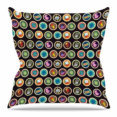 Toys, Games & Candy by Stephanie Vaeth Throw Pillow Size: 18 H x 18 W x 4 D
