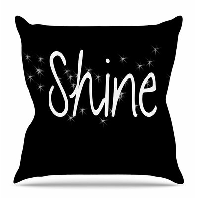 Shine by Suzanne Carter Throw Pillow Size: 16 H x 16 W x 4 D