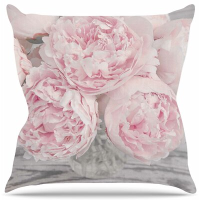 Peony Flowers by Suzanne Harford Throw Pillow Size: 16 H x 16 W x 4 D