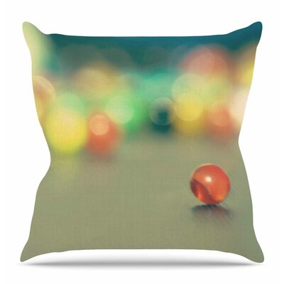 Marble Bokeh by Sylvia Coomes Throw Pillow Size: 26 H x 26 W x 4 D