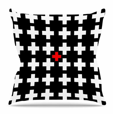 Swiss Cross by Suzanne Carter Throw Pillow Size: 20 H x 20 W x 4 D