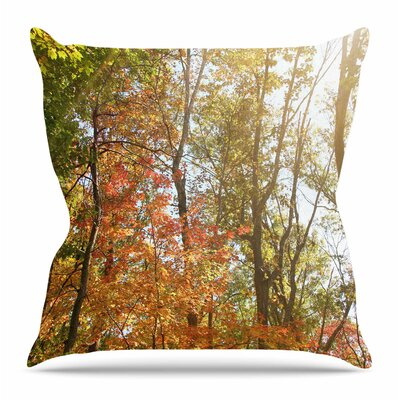 Autumn Trees 1 by Sylvia Coomes Throw Pillow Size: 16 H x 16 W x 4 D