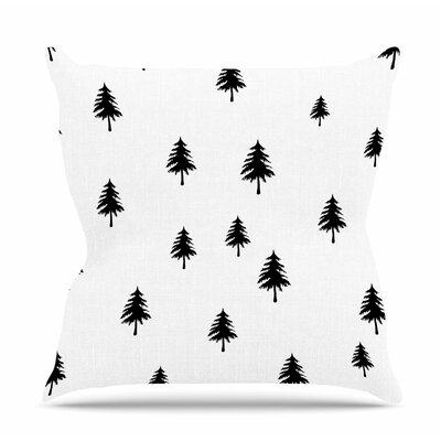 Pine Tree by Suzanne Carter Throw Pillow Size: 16 H x 16 W x 4 D