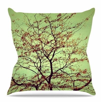 Modern Fall Tree by Sylvia Coomes Throw Pillow Size: 18 H x 18 W x 4 D