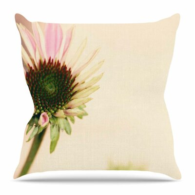 Flower by Sylvia Coomes Throw Pillow Size: 18 H x 18 W x 4 D