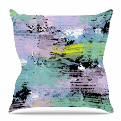 Watercolor Texture by Vasare Nar Throw Pillow Size: 16 H x 16 W x 4 D