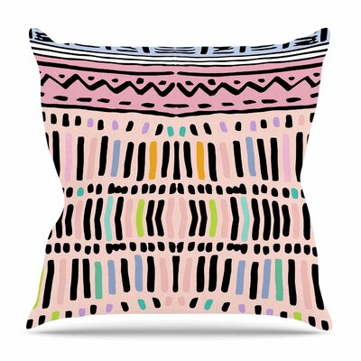 Native Pastel by Vasare Nar Throw Pillow Size: 26 H x 26 W x 4 D