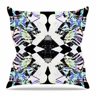 Abstract Zebra by Vasare Nar Throw Pillow Size: 26 H x 26 W x 4 D