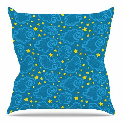 Starry and Cloudy Night by Yenty Jap Throw Pillow Size: 18 H x 18 W x 4 D