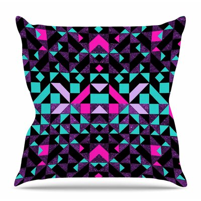 Geometric by Vasare Nar Throw Pillow Color: Black/Green, Size: 16 H x 16 W x 4 D