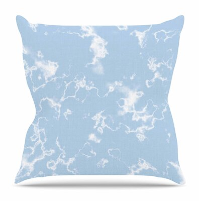 Marble Clouds by Vasare Nar Throw Pillow Size: 16 H x 16 W x 4 D