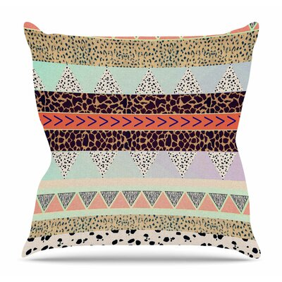 Animal Print Tribal by Vasare Nar Throw Pillow Size: 16 H x 16 W x 4 D