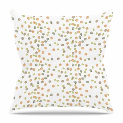 Autumn Spots by Yenty Jap Throw Pillow Size: 18 H x 18 W x 4 D