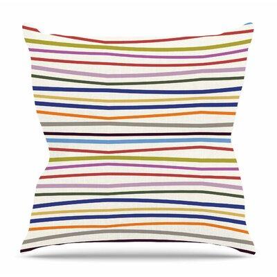 Stripe Fun by Yenty Jap Throw Pillow Size: 26 H x 26 W x 4 D