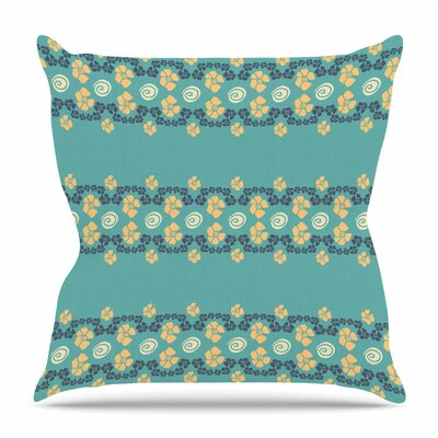 Flora Formations by Zara Martina Mansen Throw Pillow Size: 20 H x 20 W x 4 D