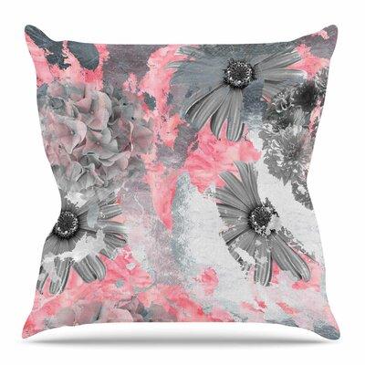 Floral Blush by Zara Martina Mansen Throw Pillow Size: 16 H x 16 W x 4 D