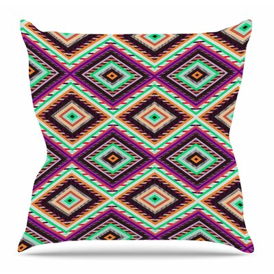 Boho Gipsy by Vasare Nar Throw Pillow Size: 16 H x 16 W x 4 D