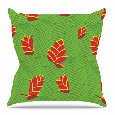 Heliconia by Yenty Jap Throw Pillow Size: 16 H x 16 W x 4 D