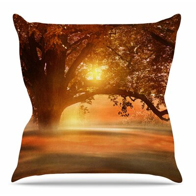 Romance in Autumn by Viviana Gonzalez Throw Pillow Size: 20 H x 20 W x 4 D