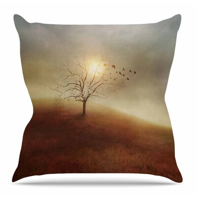 Lone Tree Love I by Viviana Gonzalez Throw Pillow Size: 20 H x 20 W x 4 D