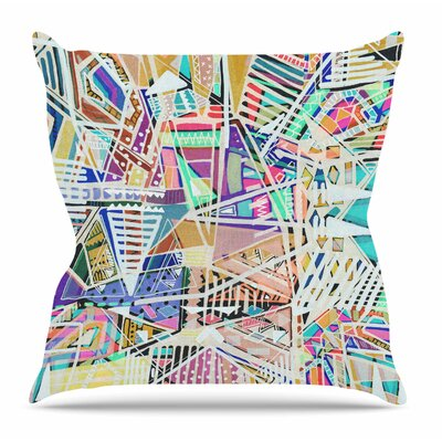 Abstract Geometric Playground by Vasare Nar Throw Pillow Size: 20 H x 20 W x 4 D