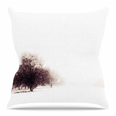 Winter Landscape by Sylvia Coomes Throw Pillow Size: 26 H x 26 W x 4 D