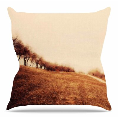 Minimalist Autumn Landscape by Sylvia Coomes Throw Pillow Size: 26 H x 26 W x 4 D