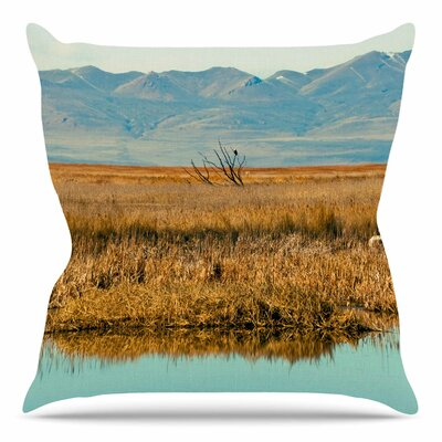 Reflective Landscape by Sylvia Coomes Throw Pillow Size: 18 H x 18 W x 4 D