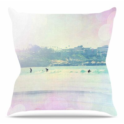Rainbow I by Sylvia Coomes Throw Pillow Size: 16 H x 16 W x 4 D