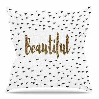 Beautiful by Suzanne Carter Throw Pillow Size: 20 H x 20 W x 4 D