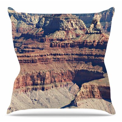 Grand Canyon Landscape 1 by Sylvia Coomes Throw Pillow Size: 18 H x 18 W x 4 D