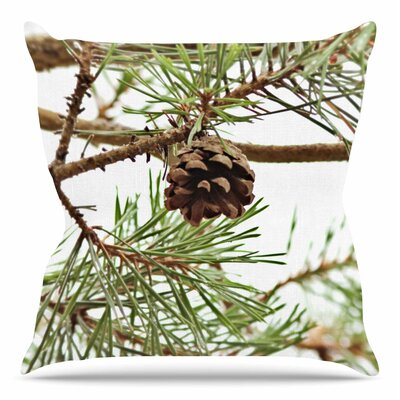 Pinecone by Sylvia Coomes Throw Pillow Size: 20 H x 20 W x 4 D