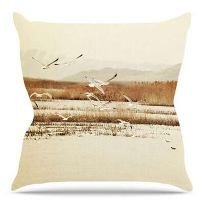 Nautical Flight by Sylvia Coomes Throw Pillow Size: 18 H x 18 W x 4 D